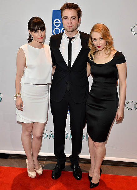 Emily Hampshire, Robert Pattinson and Sarah Gadon at the Canadian premiere of Cosmopolis in Toronto