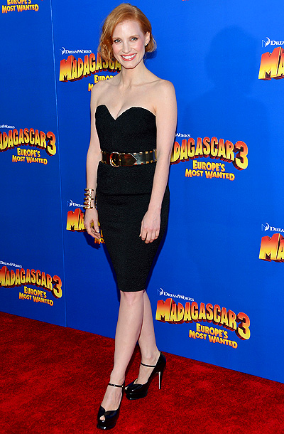 Jessica Chastain at the premiere of Madagascar 3: Europe's Most Wanted in New York City