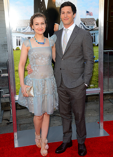 Joanna Newsom and Andy Samberg at the Hollywood premiere of That's My Boy