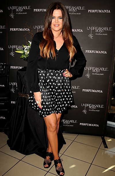 Khloe Kardashian Odom at a personal appearance for her Unbreakable Bond fragrance in Orange, California