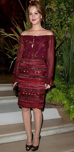 Leighton Meester in Salvatore Ferragamo at the Ferragamo Resort 2013 presentation in Paris