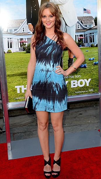 Leighton Meester in Versus at the Hollywood premiere of That's My Boy