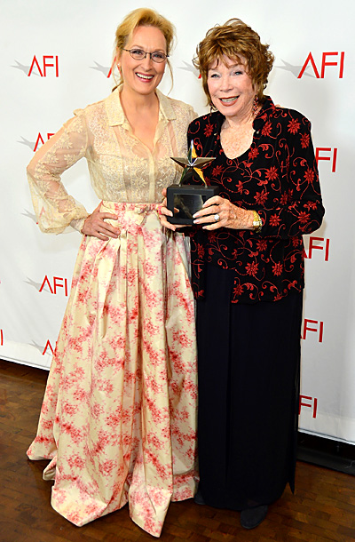 Meryl Streep and Shirley MacLaine at the TV Land Presents: AFI Life Achievement Award Honoring Shirley MacLaine in Los Angeles