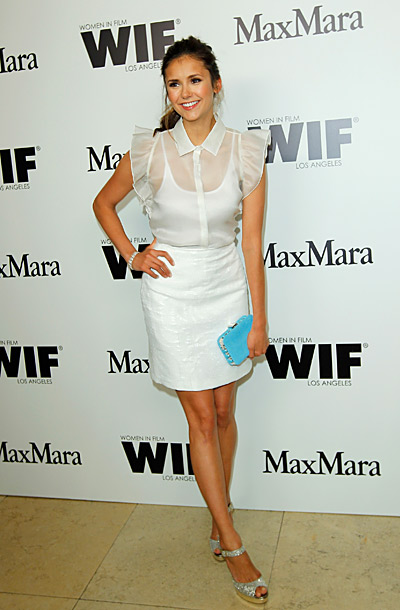 Nina Dobrev at the Max Mara party honoring the 2012 Women in Film Face of the Future in Los Angeles