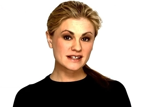 January 2010 Anna Paquin, during her engagement to actor Stephen Moyer, reveals she's bisexual in the filming of a public service announcement for the ''Give…