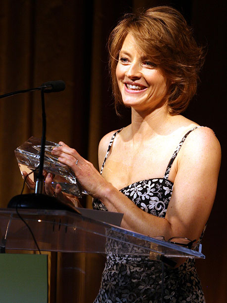 December 2007 Accepting an award at the 16th Annual Women in Entertainment Power 100 event, Jodie Foster thanks ''my beautiful Cydney who sticks with me…
