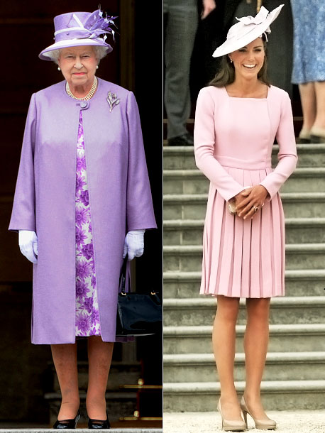 Kate Middleton, Queen Elizabeth II | The Duchess recycles! It was the first time Catherine had attended the Queen's annual garden party at Buckingham Palace, but the second time she'd worn…