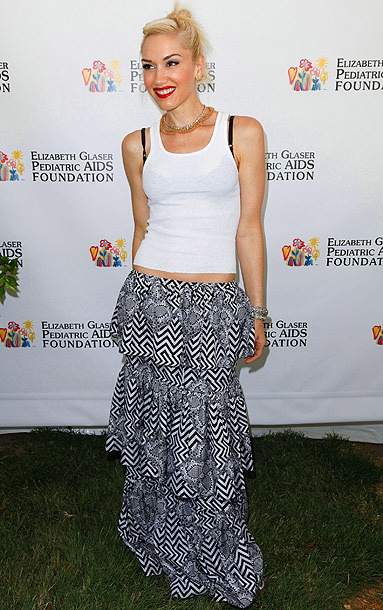 "Gwen Stefani at the Elizabeth Glaser Pediatric AIDS Foundation's ""A Time for Heroes"" celebrity picnic in Los Angeles"