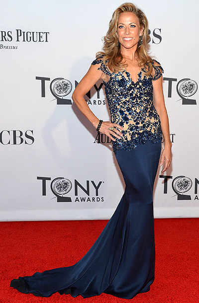 Sheryl Crow in Marchesa at the 2012 Tony Awards in New York City