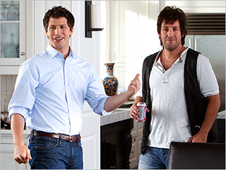 FATHER AND SON Andy Samberg and Adam Sandler find the family love in That's My Boy