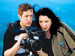 MARINA ABRAMOVIĆ THE ARTIST IS PRESENT Director and cinematographer Matthew Akers and the fearless Marina Abramović