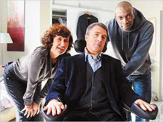 THE INTOUCHABLES Anne Le Ny, Francois Cluzet, and Omar Sy