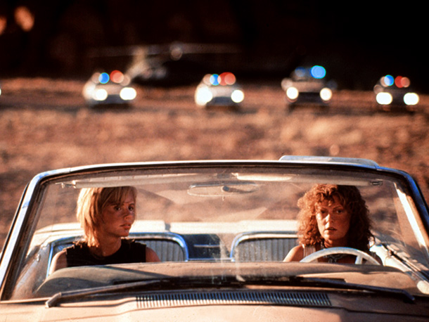 Thelma & Louise | Like a distaff version of the freeze-frame fatalism at the end of Butch Cassidy and the Sundance Kid , Susan Sarandon and Geena Davis' two…