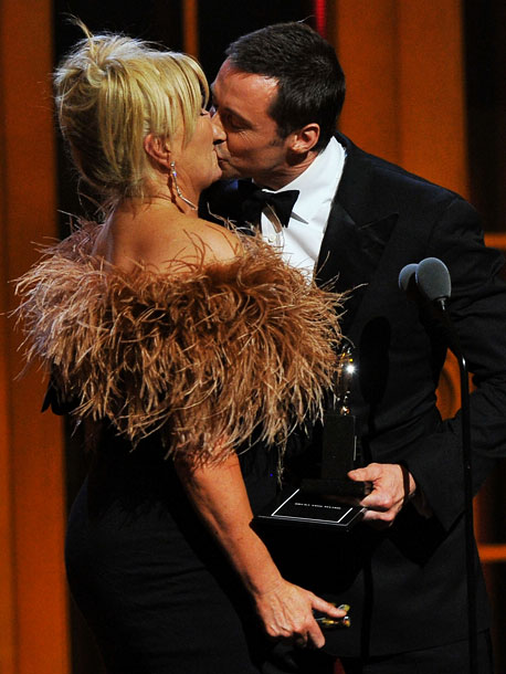 Deborra-Lee Furness surprises her hubby by presenting him his special Tony. He returns the favor with a gracious speech. ''I know how much you hate…