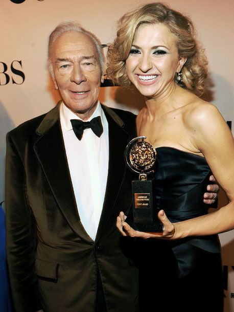 The 28-year-old star of Venus in Fur , accepting Leading Actress in a Play, tells Plummer, ''Sir, you were my first crush. When that whistle…