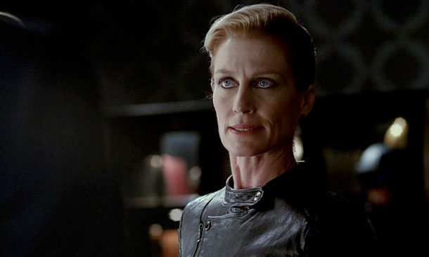 Jessica Tuck, True Blood | Having been fired from the American Vampire League and the Authority, Nan was supposed to deliver the true death to Bill and Eric as her…