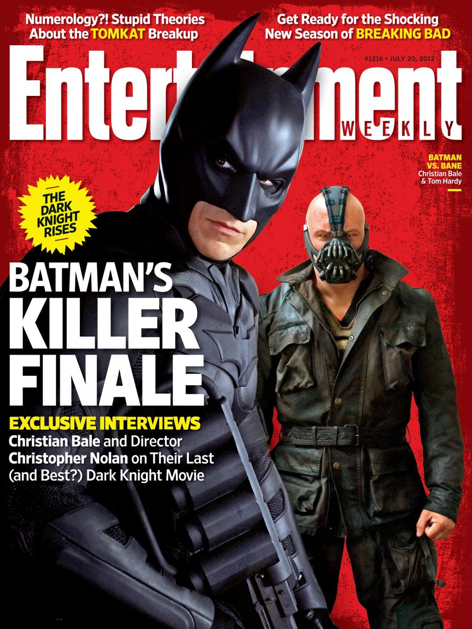 Entertainment Weekly Batman Dark Knight Rises Cover # 1216 July 20, 2012