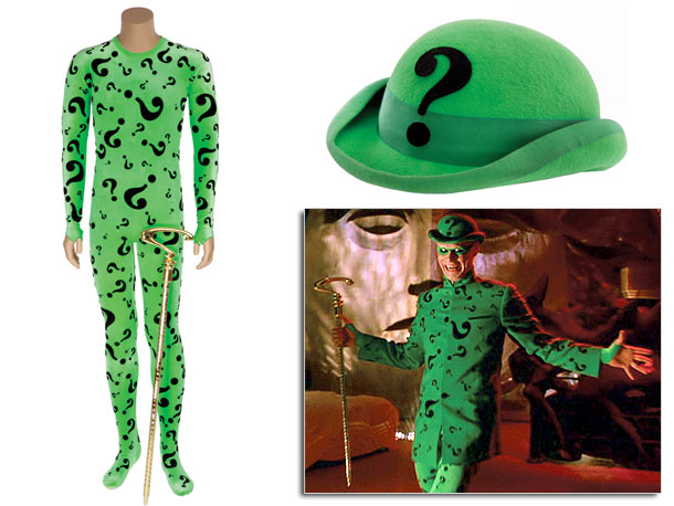 It takes a brave man to wear a skintight punctuation-print bodysuit, but Jim Carrey pulled it off. The winning bidder will also receive the character's…