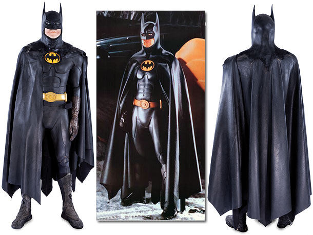 The armored rubber bodysuit, rubberized cape and mid-calf boots are showing signs of age, but Michael Keaton's complete Batman Returns costume is rare. And priced…