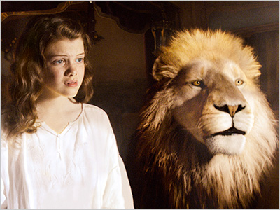 ME AND MY LION Georgie Henley and Aslan embark on a new adventure in The Chronicles of Narnia: The Voyage of the Dawn Treader