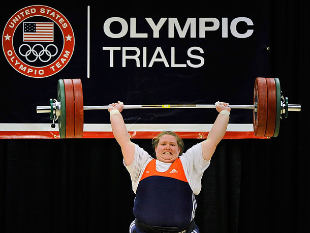 Summer Olympics 2012 | Weightlifting, Women's +75kg/+165 lbs The 22-year-old sister of New York Jets center Nick Mangold played football from the time she was eight, but she got…