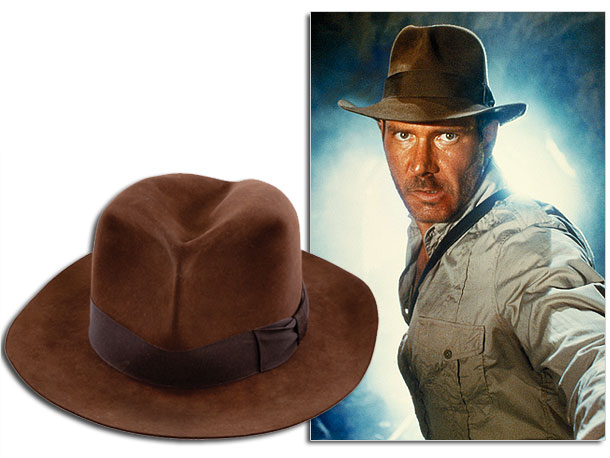 This Adventurebilt Deluxe Fedora was worn by Harrison Ford during a costume fitting for The Crystal Skull , but never got any screen time. Auction…