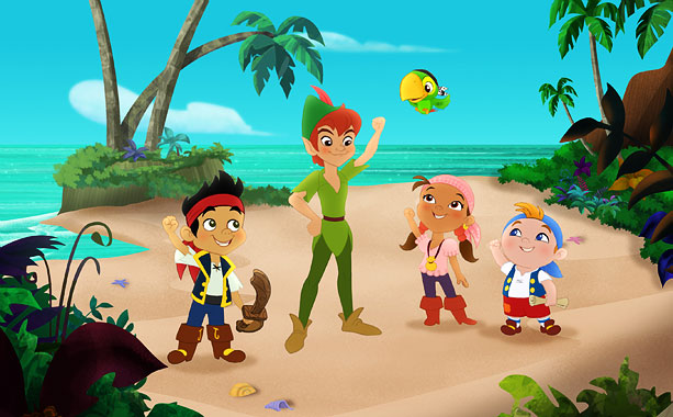 Jake, Izzy, and Cubby go on interactive adventures in this Peter Pan spinoff that features Captain Hook and Mr. Smee. The gang earns gold doubloons…
