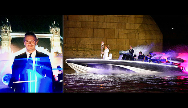 England's most famous midfielder spent most of the opening ceremonies ferrying the Olympic flame down the Thames in a speedboat. His suit was impeccable, and…