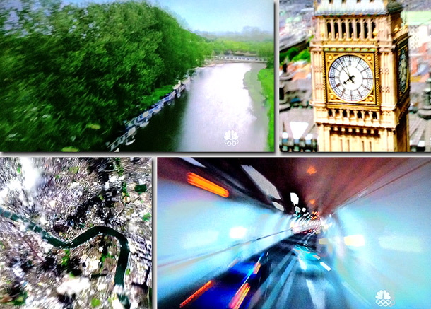 The night began with a kaleidoscopic journey down the River Thames and through the Tube. The video had all the visual kineticism you could expect…