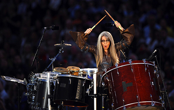 Deaf Scottish percussionist Evelyn Glennie gave the ''Industrial Revolution'' a bombastic undertone.