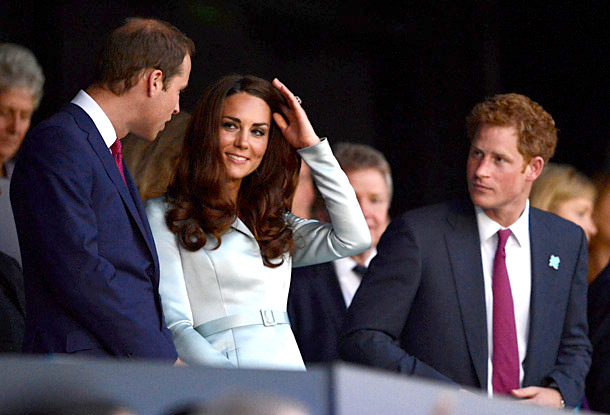 The camera kept cutting back to the camera-ready Duke and Duchess of Cambridge. But our eyes lingered on Prince Harry, sitting there all alone. Poor…