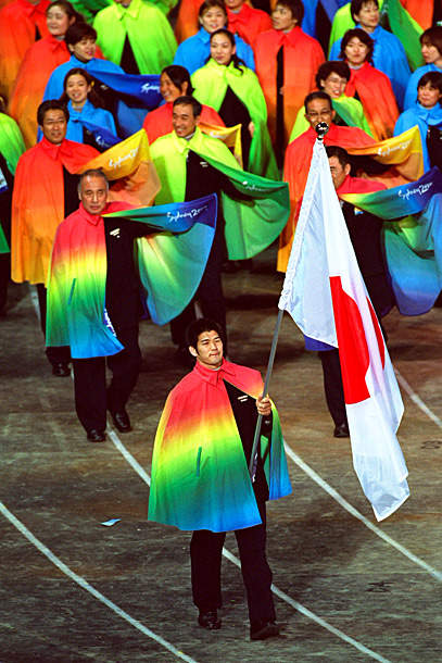 Is this Team Japan at the opening ceremonies of the 2000 Summer Games in Sydney or the cast of the new Broadway musical Joseph and…