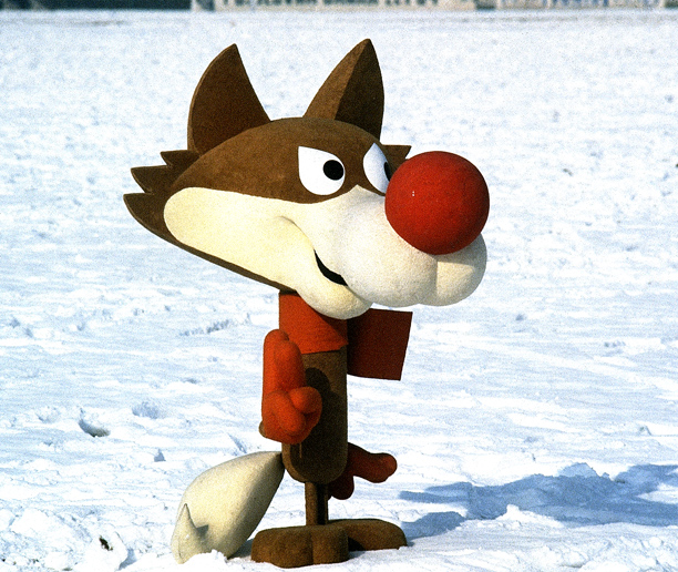 Olympics | The determined-looking Yugoslavian wolf looked like an ACME-outfitted Wily E. Coyote when he was featured in a series of winter-sports poses. What do YOU think?