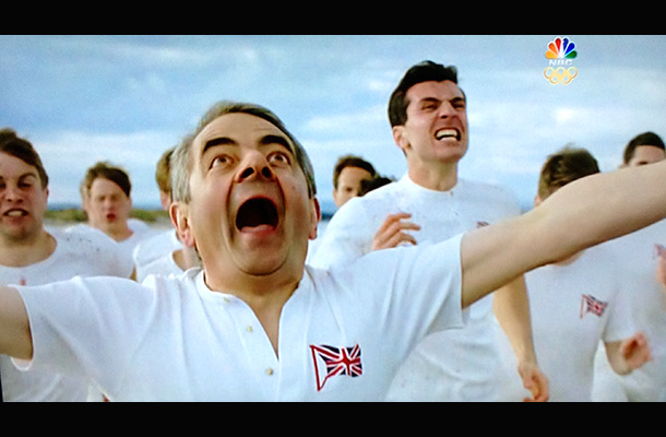 Did somebody say carefully constructed viral ''moments''? Mr. Bean fell asleep and imagined himself on the beach with the Chariots of Fire runners. This would…