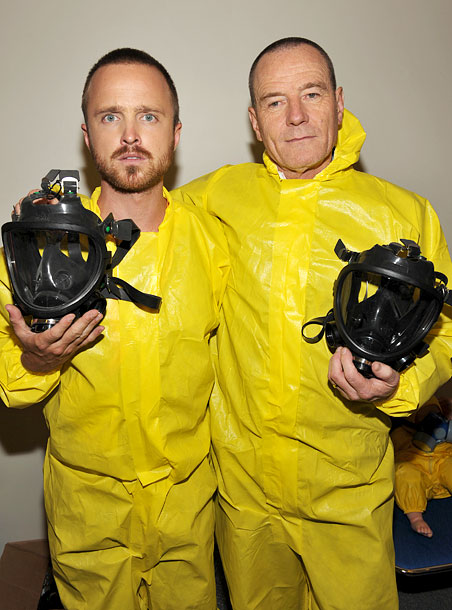 Aaron Paul and Bryan Cranston at the Breaking Bad panel