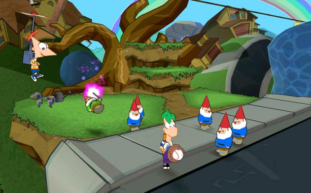 Phineas and Ferb: Across the 2nd Dimension | Inspired level design, smart writing, and cool gadgets — like an orange soda-shooting squirt gun — make Phineas and Ferb: Across the Second Dimension a…