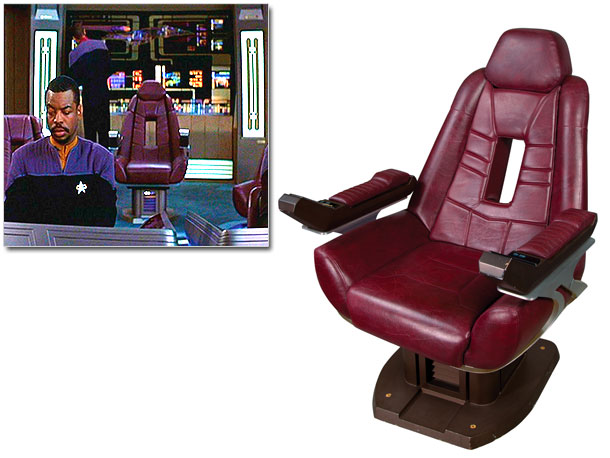 Picard's aircraft-style perch is covered in imitation leather and features armrests with simulated control panels. There's no recline button, but it offers plenty of legroom.…