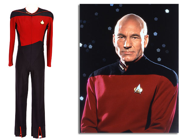 In the early seasons of The Next Generation , Captain Picard and his crew wore one-piece spandex jumpsuits that were intentionally sized smaller than the…