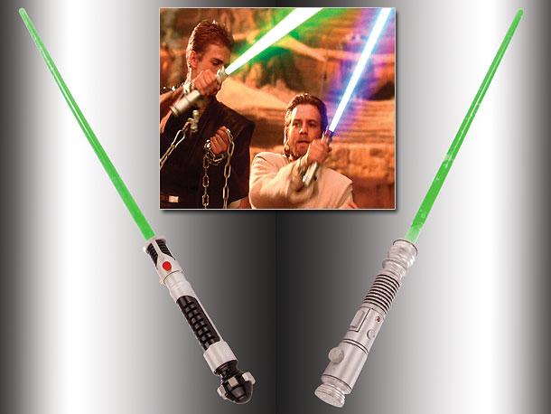 Ewan McGregor (as Obi-Wan) brandished his in The Phantom Menace , while Hayden Christensen (as Anakin Skywalker) wielded one in Attack of the Clones .…