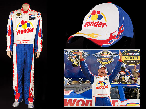 If you're a collector of Will Ferrell memorabilia, you'll also want to bid on this Sparco Wonderbread racing suit, which comes with Ricky's team cap…
