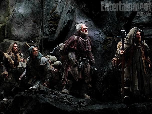 Aidan Turner | Dwarves Fili (Dean O'Gorman, far left), Kili (Aidan Turner), Dori (Mark Hadlow), and Nori (Jed Brophy) trek through mountainous terrain in Middle-Earth. ''This movie has…