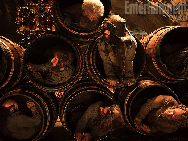 Ken Stott | In one of the best-known sequences from the Hobbit book, the dwarves make a daring escape down a river in some barrels.