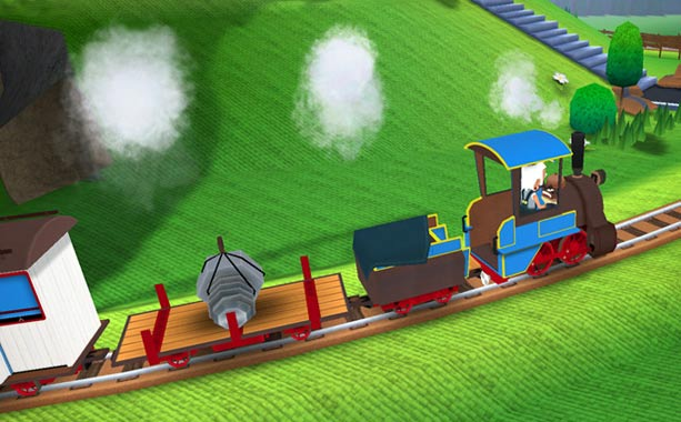 Toca Train | More interactive simulation than mini-game, Toca Train puts choo choo-loving children behind the virtual controls of their very own locomotive. Using simple touch-based levers and…