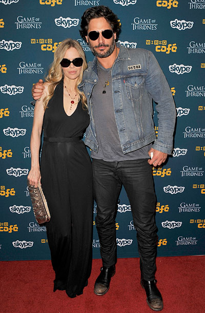 Kristen Bauer van Straten and Joe Manganiello at WIRED Cafe At Comic-Con in San Diego