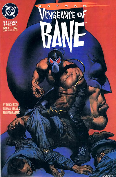 Batman, The Dark Knight Rises | Bane was introduced in this one-shot, written by Chuck Dixon and illustrated by Graham Nolan (no relation to Christopher), which established the character's Charles Dickens-meets-Conan…