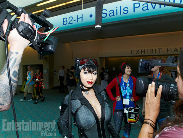 San Diego Comic-Con 2012 | The kitty otherwise known as Selina Kyle basks in the media spotlight.