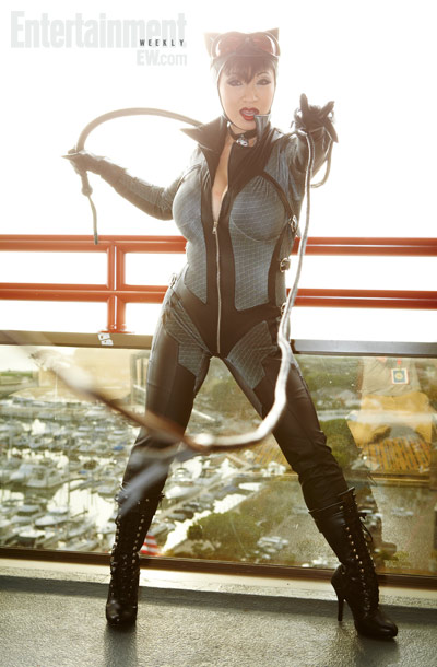 San Diego Comic-Con 2012 | Catwoman's signature whip in action.