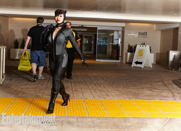 San Diego Comic-Con 2012 | Judging from her strut, you can tell Catwoman was originally inspired by old Hollywood's greatest sirens.
