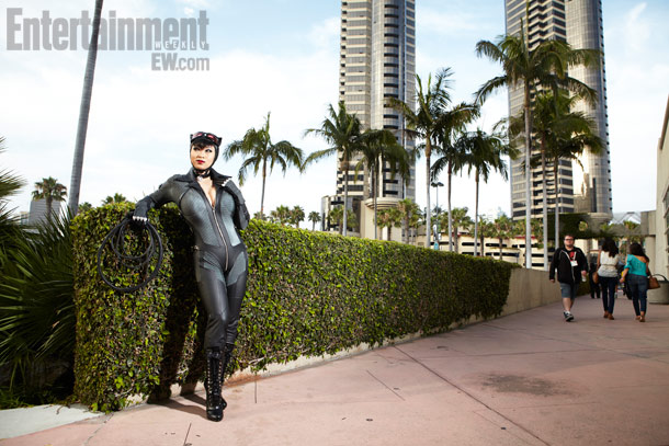 San Diego Comic-Con 2012 | Catwoman looks into the distance, scoping out her next target.