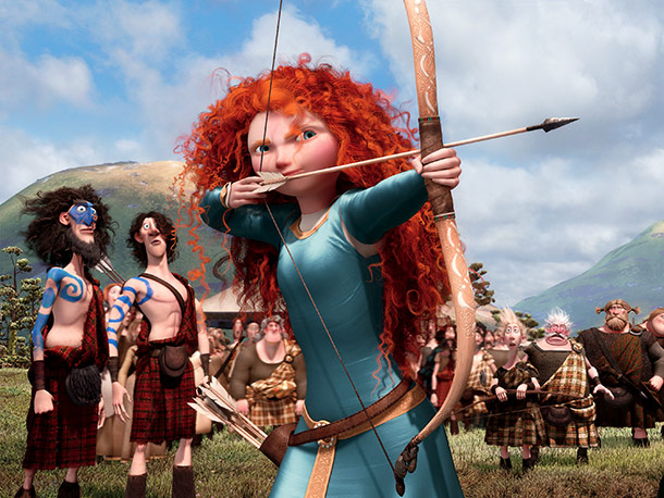 Pixar's 13th animated feature is also its first to center on a female character: a fiery-haired Scottish princess (voiced by Boardwalk Empire 's Kelly Macdonald)…